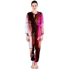 Abstract Background Design Squares Onepiece Jumpsuit (ladies)