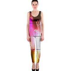 Abstract Background Design Squares Onepiece Catsuit