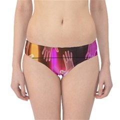 Abstract Background Design Squares Hipster Bikini Bottoms