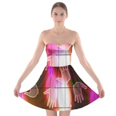 Abstract Background Design Squares Strapless Bra Top Dress