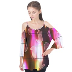 Abstract Background Design Squares Flutter Tees