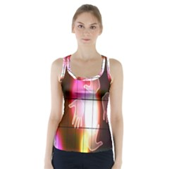 Abstract Background Design Squares Racer Back Sports Top
