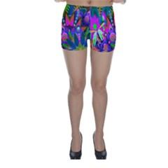 Abstract Digital Art  Skinny Shorts