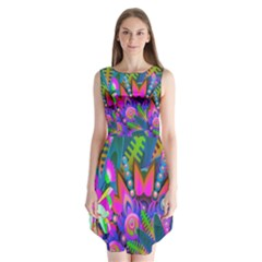 Abstract Digital Art  Sleeveless Chiffon Dress