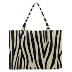 SKN4 BK-MRBL BG-LIN Medium Zipper Tote Bag