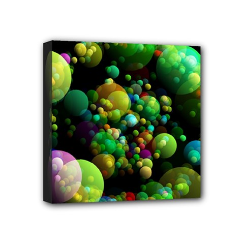Abstract Balls Color About Mini Canvas 4  X 4