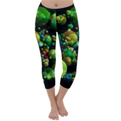 Abstract Balls Color About Capri Winter Leggings