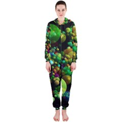 Abstract Balls Color About Hooded Jumpsuit (Ladies)
