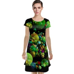 Abstract Balls Color About Cap Sleeve Nightdress