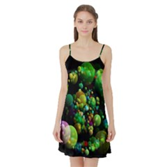 Abstract Balls Color About Satin Night Slip