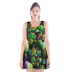 Abstract Balls Color About Scoop Neck Skater Dress