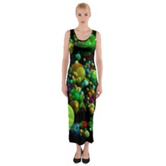 Abstract Balls Color About Fitted Maxi Dress