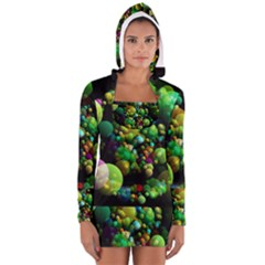 Abstract Balls Color About Women s Long Sleeve Hooded T-shirt