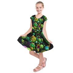 Abstract Balls Color About Kids  Short Sleeve Dress