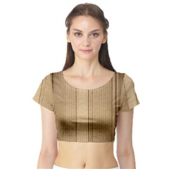 Abstract Art Backdrop Background Short Sleeve Crop Top (Tight Fit)