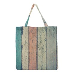 Abstract Board Construction Panel Grocery Tote Bag