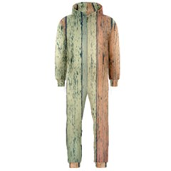 Abstract Board Construction Panel Hooded Jumpsuit (Men)
