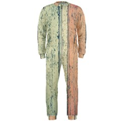 Abstract Board Construction Panel OnePiece Jumpsuit (Men)