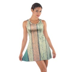 Abstract Board Construction Panel Cotton Racerback Dress