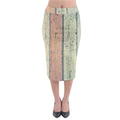 Abstract Board Construction Panel Midi Pencil Skirt