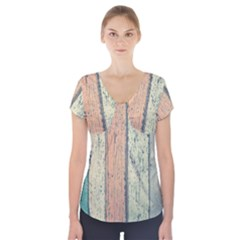 Abstract Board Construction Panel Short Sleeve Front Detail Top