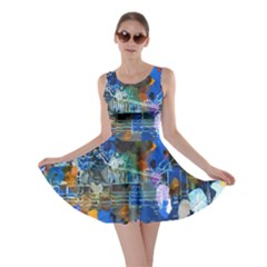 Abstract Farm Digital Art Skater Dress