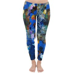 Abstract Farm Digital Art Classic Winter Leggings