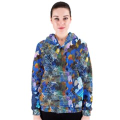 Abstract Farm Digital Art Women s Zipper Hoodie