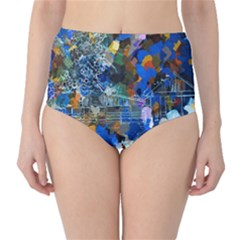 Abstract Farm Digital Art High-Waist Bikini Bottoms