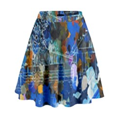 Abstract Farm Digital Art High Waist Skirt