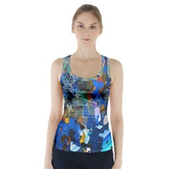 Abstract Farm Digital Art Racer Back Sports Top