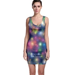 Abstract Background Graphic Design Sleeveless Bodycon Dress