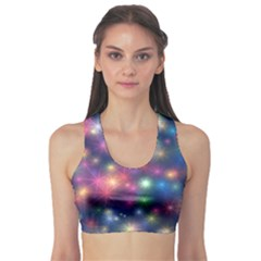 Abstract Background Graphic Design Sports Bra