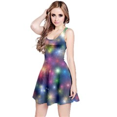 Abstract Background Graphic Design Reversible Sleeveless Dress