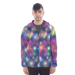 Abstract Background Graphic Design Hooded Wind Breaker (Men)