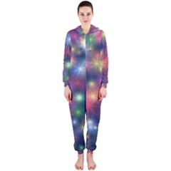Abstract Background Graphic Design Hooded Jumpsuit (Ladies)