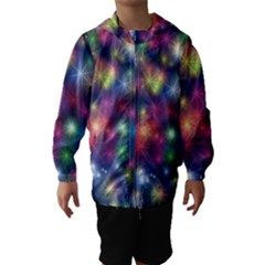 Abstract Background Graphic Design Hooded Wind Breaker (Kids)