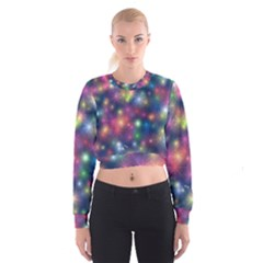 Abstract Background Graphic Design Women s Cropped Sweatshirt