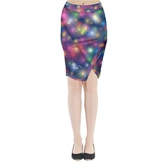 Abstract Background Graphic Design Midi Wrap Pencil Skirt