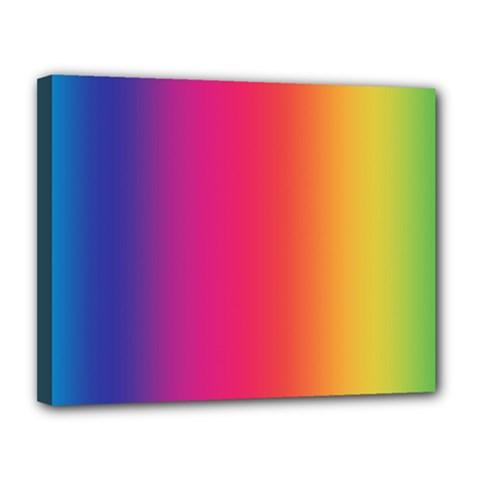 Abstract Rainbow Canvas 14  X 11