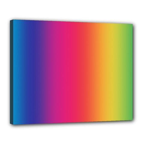Abstract Rainbow Canvas 20  x 16