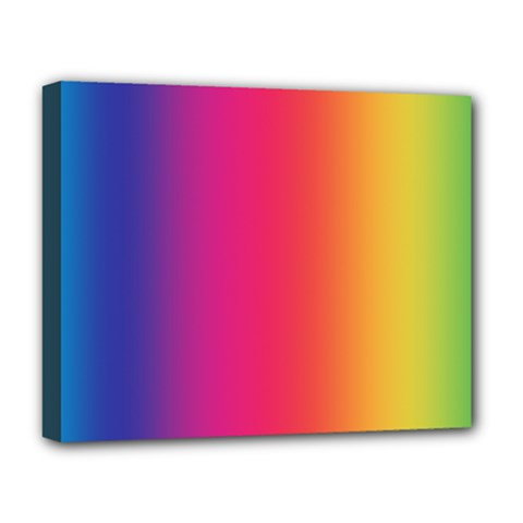 Abstract Rainbow Deluxe Canvas 20  X 16