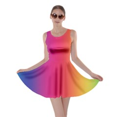 Abstract Rainbow Skater Dress