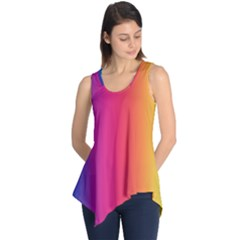 Abstract Rainbow Sleeveless Tunic