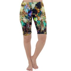 Abstract Digital Art Cropped Leggings