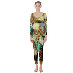 Abstract Digital Art Long Sleeve Catsuit