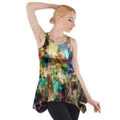 Abstract Digital Art Side Drop Tank Tunic