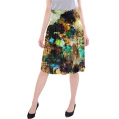 Abstract Digital Art Midi Beach Skirt