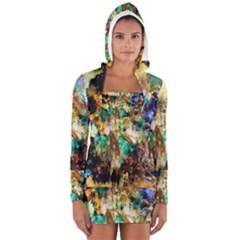 Abstract Digital Art Women s Long Sleeve Hooded T-shirt