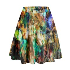 Abstract Digital Art High Waist Skirt